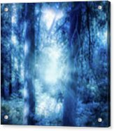 Blue Lights Acrylic Print