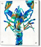 Blue Lobster Art By Sharon Cummings Acrylic Print