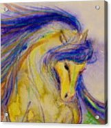 Blue Mane And Tail Acrylic Print