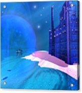 Blue Mansions Acrylic Print
