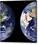 Blue Marble Composite Images Generated By Nasa Acrylic Print