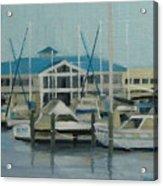 Blue Marina Acrylic Print