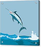 Blue Marlin  Acrylic Print by Aloysius Patrimonio
