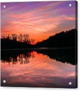 Blue Marsh Lake Sunset Acrylic Print