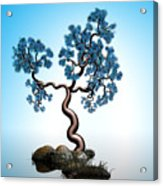 Blue Math  Tree 2 Acrylic Print by GuoJun Pan