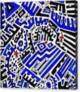 Blue Maze Acrylic Print