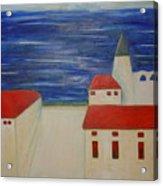 Blue Med Acrylic Print