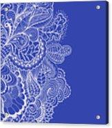 Blue Mehndi Acrylic Print