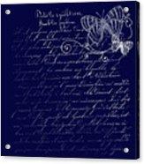 Blue Midnight Butterfly Acrylic Print