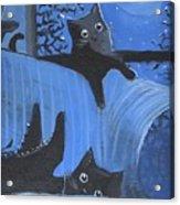 Blue Moon Halloween Acrylic Print