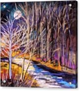Blue Moon Night Acrylic Print