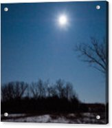 Blue Moon Over Kansas Acrylic Print