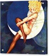 Blue Moon Silk Stockings Acrylic Print