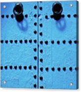 Blue Moroccan Door Acrylic Print by Kelly Cheng Travel Photography