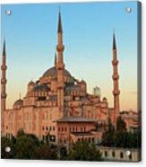 Blue Mosque Blue Hour Acrylic Print