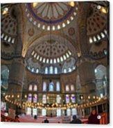 Blue Mosque Interior Acrylic Print