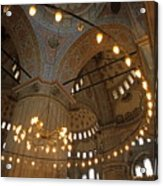 Blue Mosque Interior Acrylic Print by Sami Sarkis