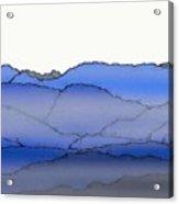 Blue Mountain Fog Acrylic Print