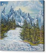Blue Mountain Torrent Acrylic Print