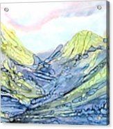 Blue Mountains Alcohol Inks  Acrylic Print