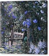 Blue Muted Garden Respite Acrylic Print