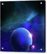 Blue Mystic Nebula Acrylic Print