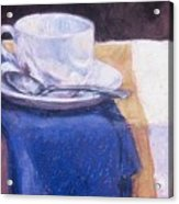 Blue Napkin Acrylic Print