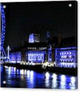 Blue Night In London Acrylic Print
