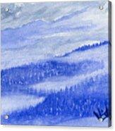 Blue Noon In Western Montana Acrylic Print