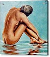 Blue Nude Acrylic Print