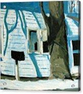 Blue On Blue Acrylic Print by Charlie Spear