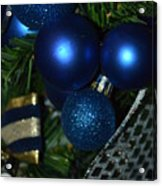 Blue Ornament Acrylic Print