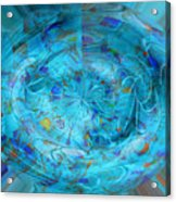 Blue Oval Acrylic Print