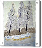 Blue Paddle Boats Acrylic Print