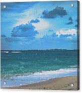 Blue Paradise, Scenic Ocean View From The Bahamas Acrylic Print