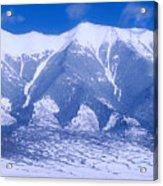 Blue Peaks Acrylic Print