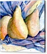 Blue Pears Acrylic Print