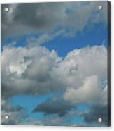 Blue Perfect Sky Sea Of Clouds From High Altitude Space Acrylic Print