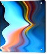 Blue Pinch Wave Acrylic Print