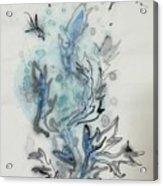 Blue Plant Of Dream Acrylic Print
