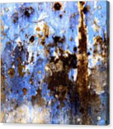 Blue Plaster 2 By Darian Day Acrylic Print