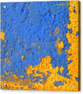 Blue Plaster 3 By Darian Day Acrylic Print