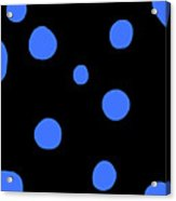 Blue Polka Dot Design Request Acrylic Print