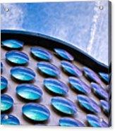Blue Polka-dot Wave Acrylic Print