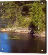 Blue Pond Marsh Acrylic Print