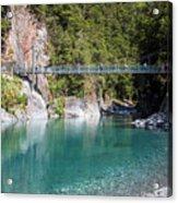Blue Pools New Zealand Acrylic Print