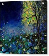 Blue Poppies And Diasies 67 Acrylic Print