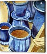 Blue Pots Acrylic Print