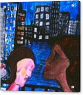 Blue Promenade Acrylic Print