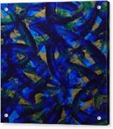 Blue Pyramid Acrylic Print